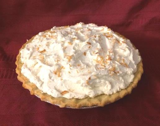 8) Coconut Cream Pie