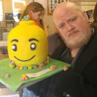 Dawson with Lego Cake 2016