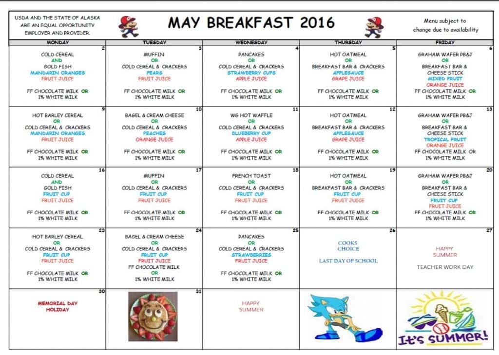May Breakfast '16
