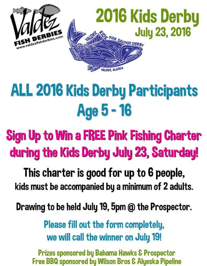 Kids Derby Charter Drawing