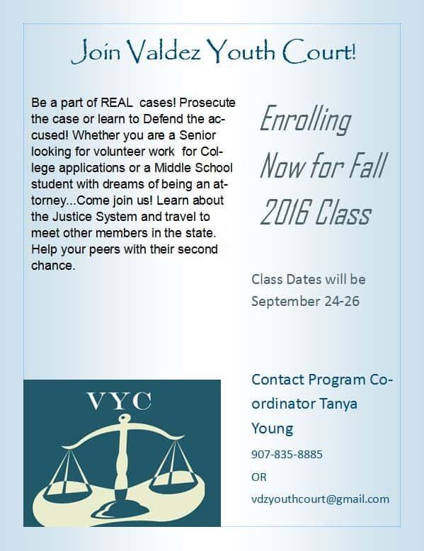 Valdez Youth Court '16 Flyer