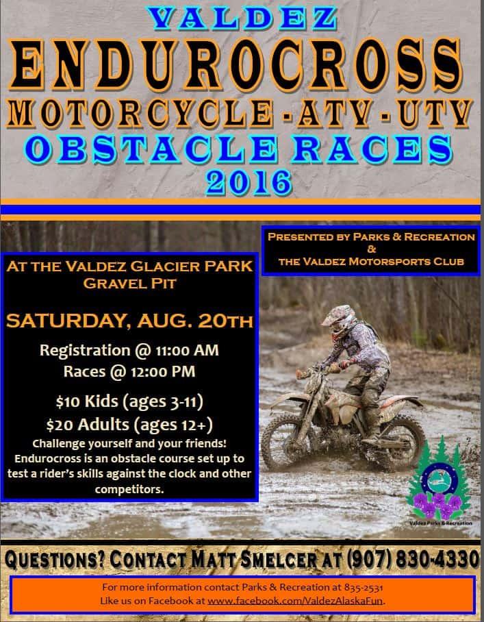 Endurocross Obstacle Races 2016 Flyer