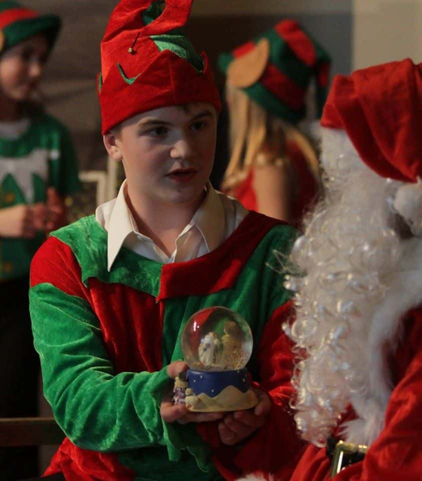 Chase Randall as Buddy the Elf in GMS Production
