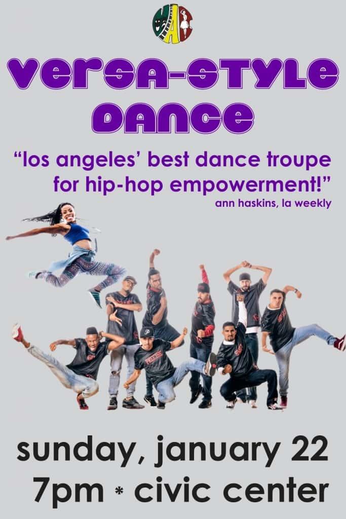 versa style dance flyer