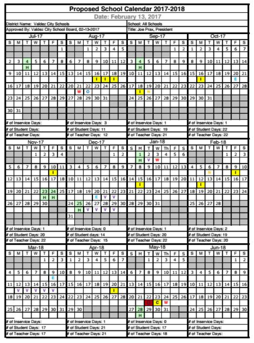 School Calendar 1