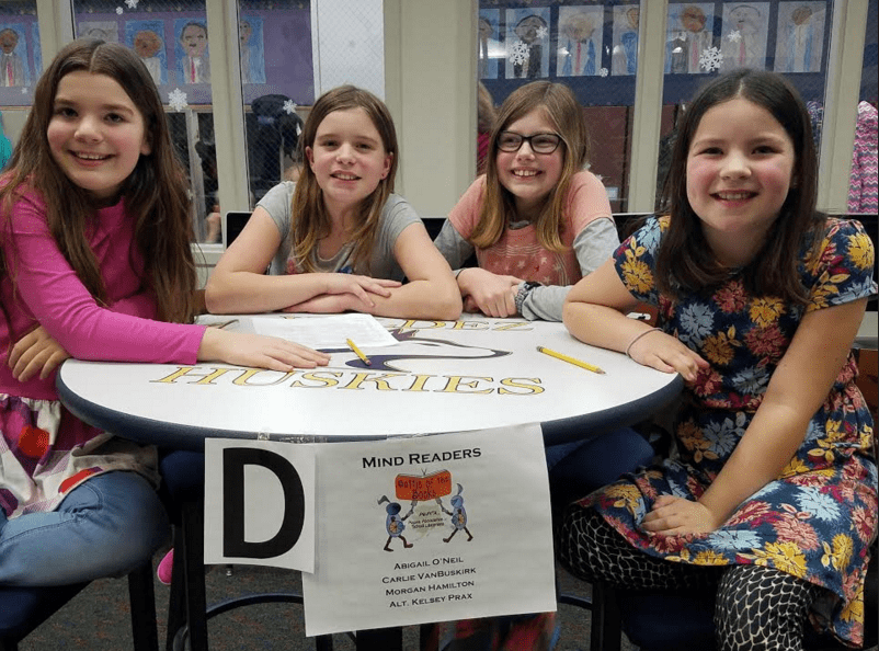 Battle of the Books Winning Team