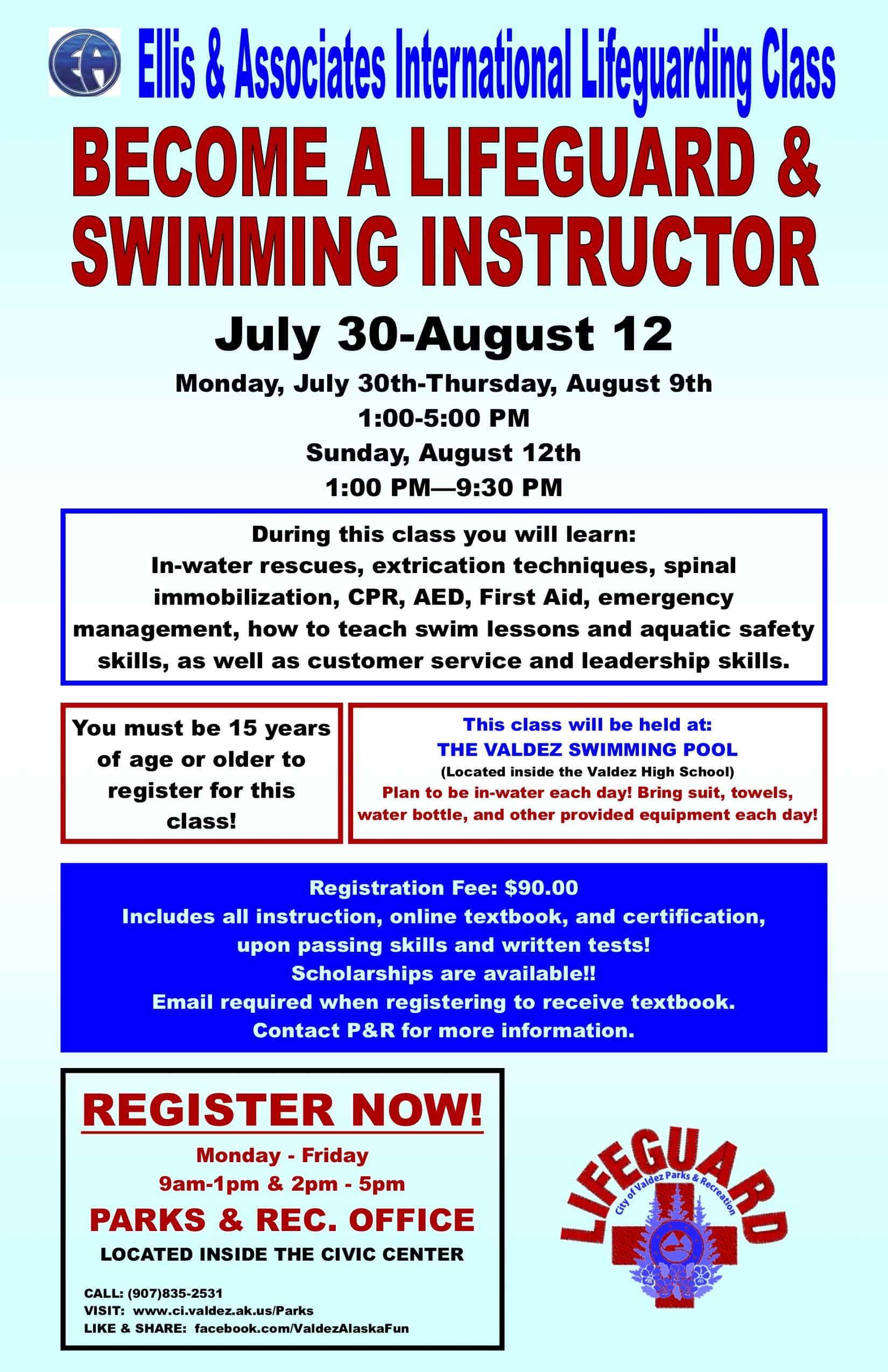 P R Lifeguard And Swimming Instructor Class Kvak