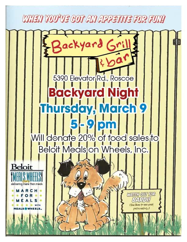 Backyard Night at Backyard Grill & Bar in Roscoe | WCLO