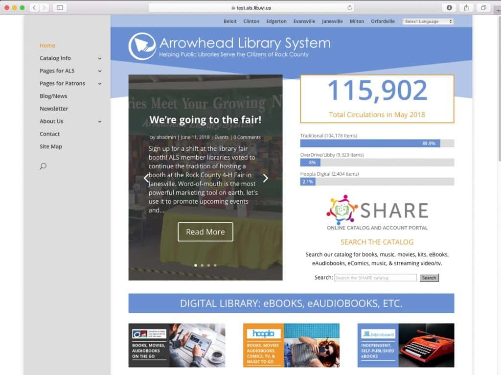 Arrowhead Library System launches new website | WCLO