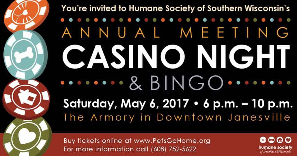 Humane Society Of Southern Wi Annual Meeting Casino Night Wjvl
