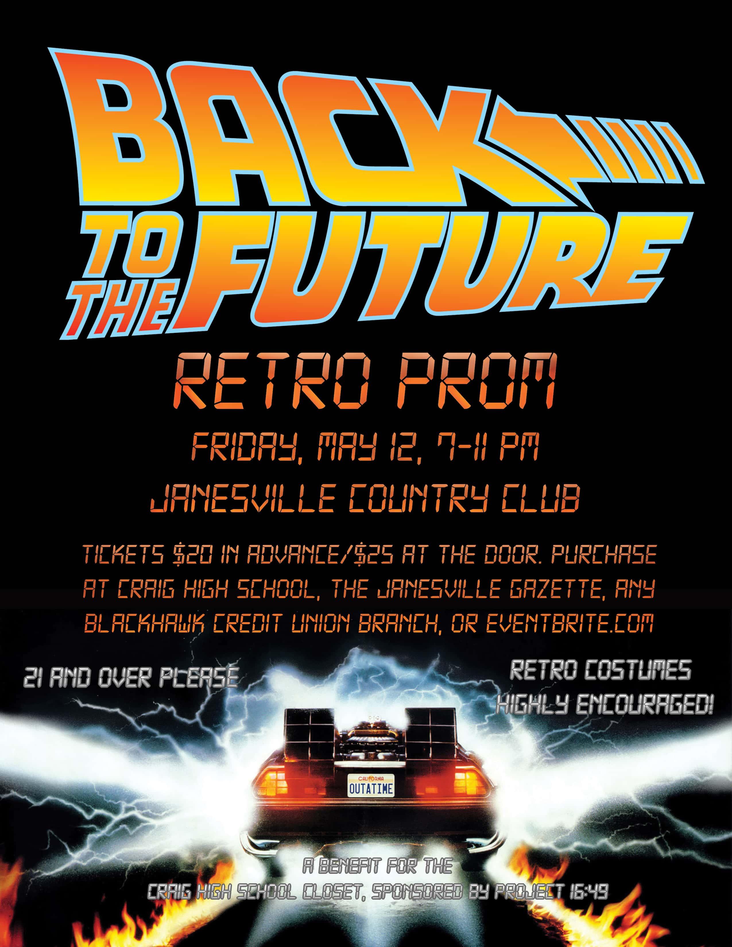 Back To The Future Retro Prom