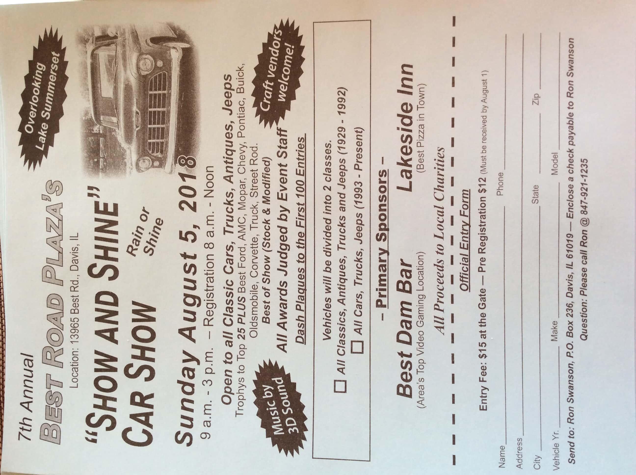 Show and Shine Car Show | WJVL