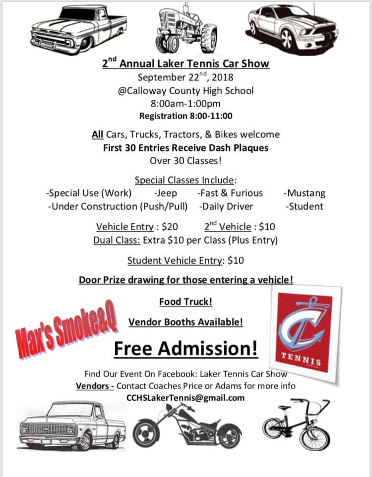 Nd Annual Laker Tennis Car Show September Nd FROGGY - September car shows