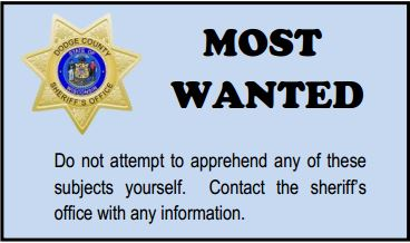 Dodge County Sheriff's Office Most Wanted List for December