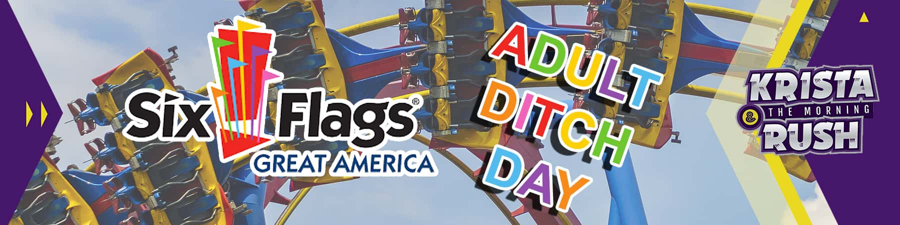 Six Flags Great America Adult Ditch Day 2019 | 93 1 JAMZ