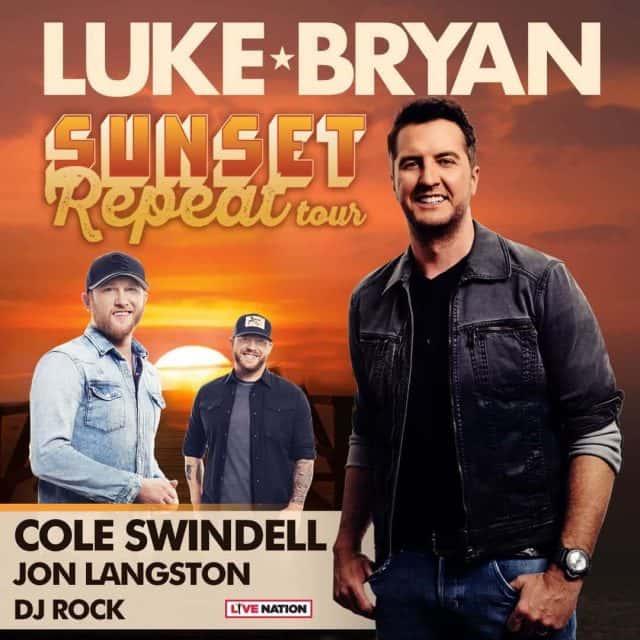 LUKE BRYAN and COLE SWINDELL in St  Louis | FM 95 WAAG