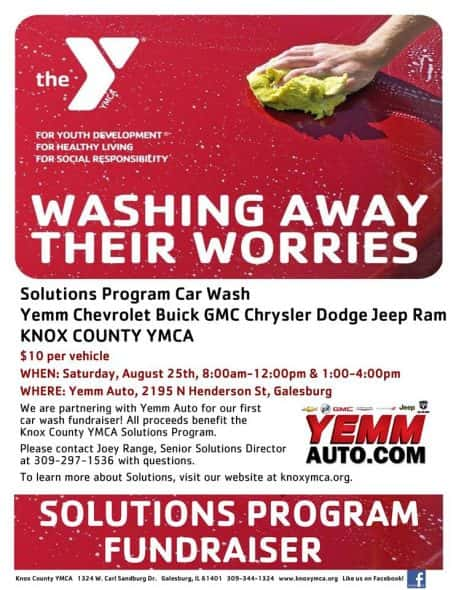 y solutions program car wash saturday at yemm chevrolet wgil 93 7 fm 1400 am wgil com