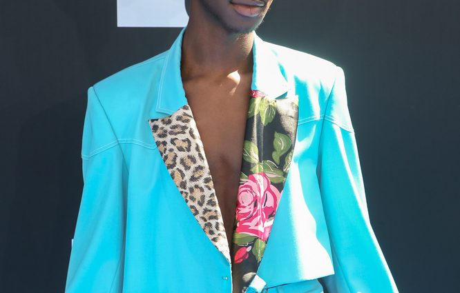 """Lil Nas X - 2019 BET Awards - Arrivals - Microsoft Theater - Los Angeles, CA, USA - Keywords: Vertical, Attending, Arts Culture and Entertainment, Celebrities, Celebrity, Person, People, Red Carpet Event, Annual Event, Topix, Bestof, Portrait, Photography, Photograph, BET Awards 2019, """"Black Entertainment Television"""", Fil, Movies, Television, Music Industry, Award Show, California Orientation: Portrait Face Count: 1 - False - Photo Credit: / PRPhotos.com - Contact (1-866-551-7827) - Portrait Face Count: 1"""