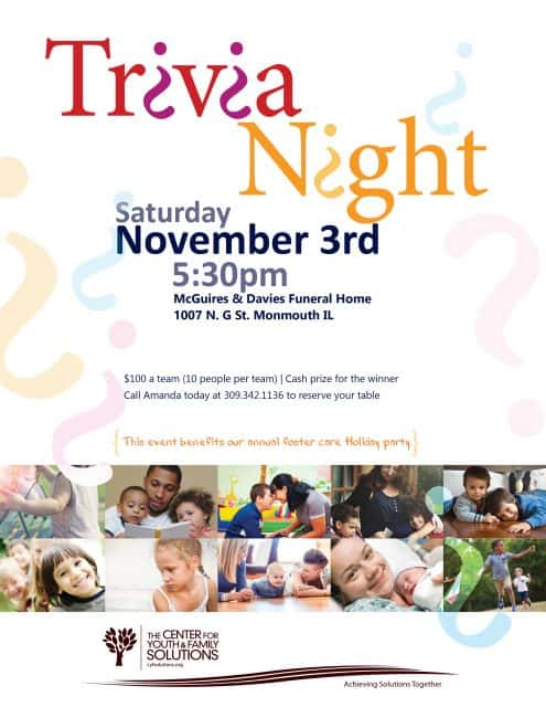 The Center For Youth And Family Solutions Annual Trivia Night The
