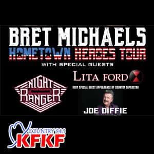 Win Bret Michaels + Joe Diffie Tickets! | KFKF