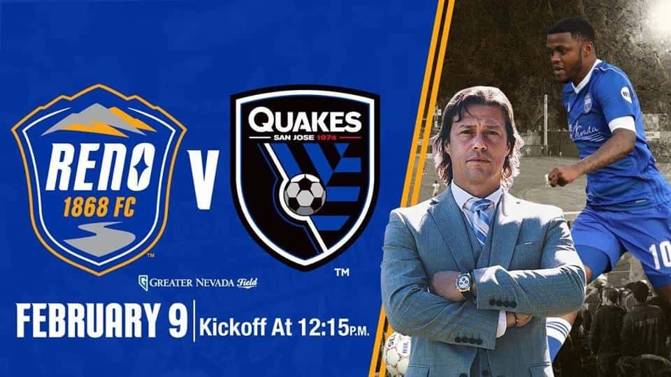Reno 1868 FC v  San Jose Earthquakes | The River 103 7