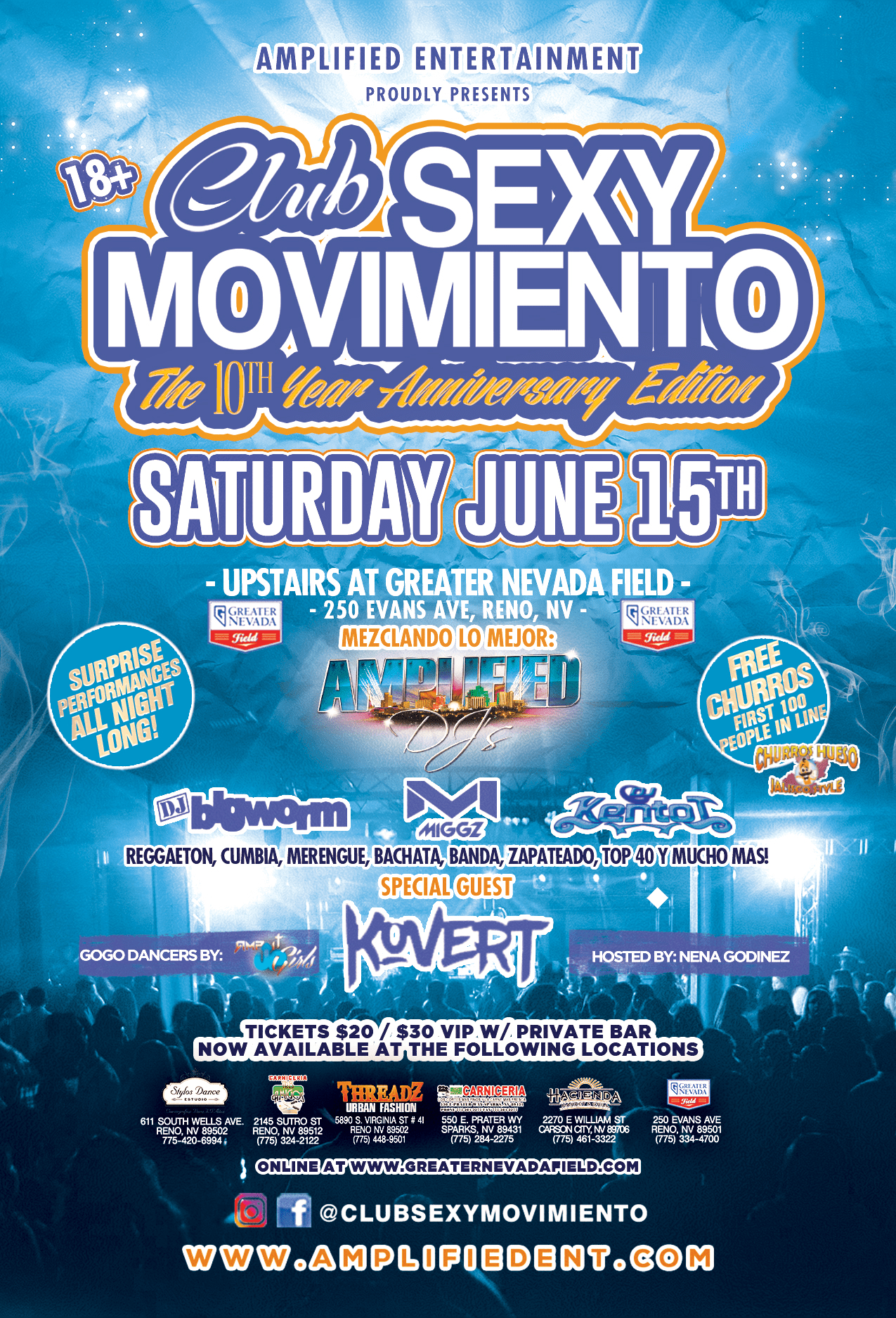 Club Sexy Movimiento | The River 103 7 | Reno Media Group, LLC