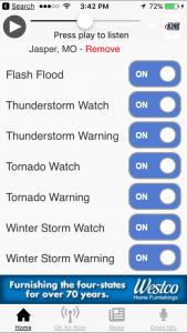 KZRG App Alerts