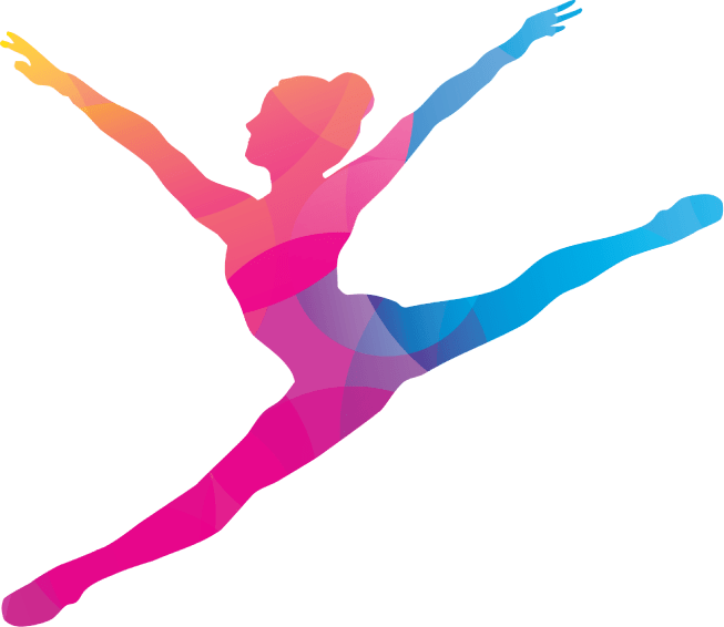 A ballet dancer in a variety of colors