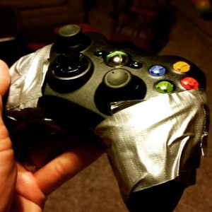 Duct tape!  It fixed one of our xbox controllers!