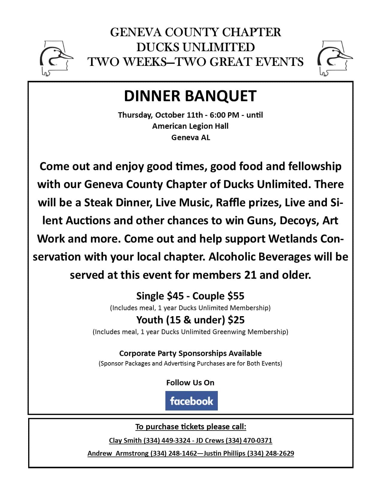 GENEVA COUNTY CHAPTER DUCKS UNLIMITED FUNDRAISER | WKMX