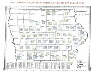 Iowa Cattlemen's map