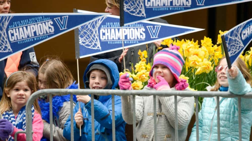 Children supporting their teams