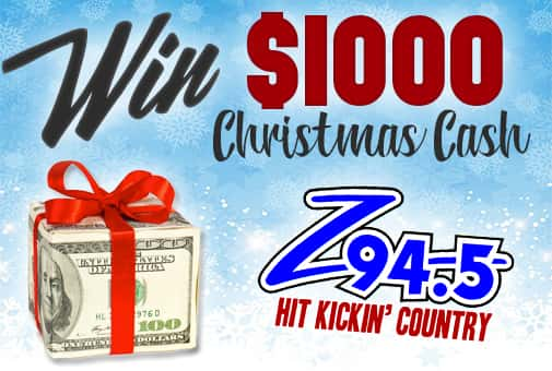 Win Z-94's Ultimate Christmas Cash Giveaway!