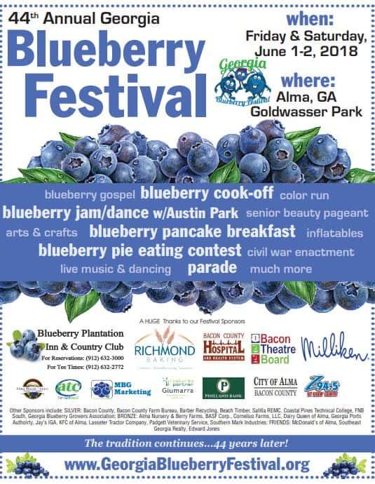 44th Annual Georgia Blueberry Festival Happening June 1st