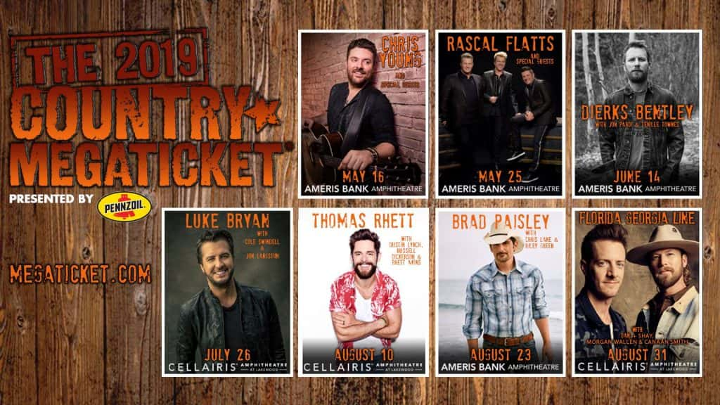 Country Megaticket 2019