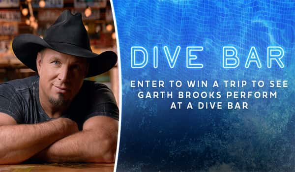 Enter to win a trip to see Garth Brooks in a Dive Bar!