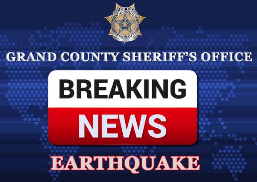 BREAKING NEWS: Grand County Utah experienced a 4 6 magnitude
