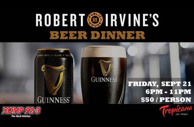 robert irvine s beer dinner at public house featuring guinness