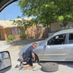 Jimmy Lescinsky Tire Change.:  I would like to recognize Clark County School District Police Officer James Lescinsky. OfficerJimmy has made a big impact on the kids of the Moapa Valley Area. Since ALL CCSD schools are closed, he has been working at a food distribution location in Overton. Officer Jimmy came to the aid of a local resident who drove up and had a flat tire. The resident had her 5 year old son in the car . On this hot day, Officer Jimmy reassured the resident everything would be alright and without hesitating, he changed the tire for her. I would like to thank Officer Jimmy for his outstanding public service .