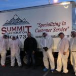 IMG_0039: Sean Polson, Anthony Munoz, Will Dellaechaie, Bill Meeks, Davind Hoskins and Mike Geib of Summit Restoration and Everest Construction posing after a 12+ hour day of providing free cold fog disinfectant and microfiber wipe down for local first responders, healthcare workers and military
