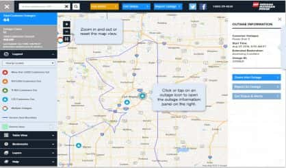 Indiana And Michigan Power Outage Map.Update I M Outage Map Now Provides More Information 97 5 Y Country