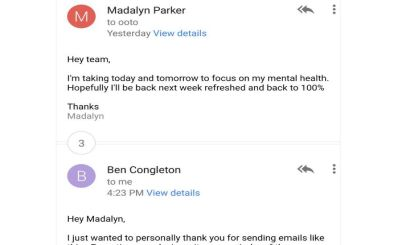 woman s e mail sparks conversation on workplace mental health 97 5