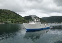 A fishing vessel in the waters of American Samoa.