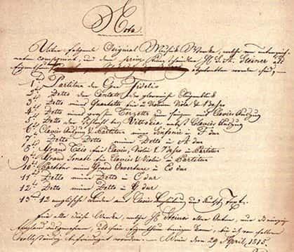 steinervertrag Beethoven contract