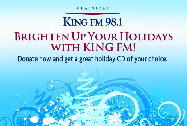 98.1 King Fm 2020 Christmas Music List Holiday CD Giveaway! | Classical KING FM 98.1