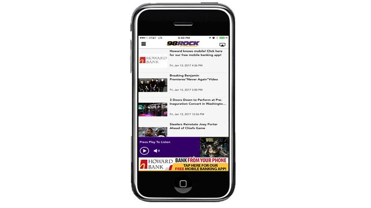 Download The 98 Rock Mobile App   98 Rock Baltimore