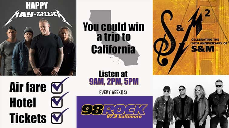LISTEN TO WIN: A Trip to see Metallica in San Francisco | 98 Rock