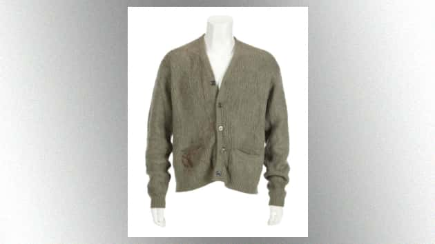 Kurt Cobain's 'MTV Unplugged' Cardigan sells for record