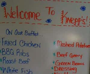 Knepp's home cooking