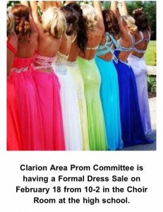 Used Prom Dress Sale At Clarion Area High School On Feb 18th C 93